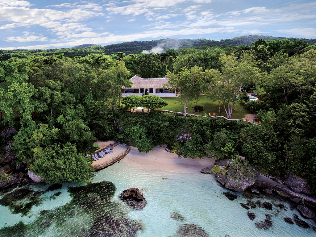 The Fleming Villa was Ian Fleming's Jamaican retreat where he wrote all 14 of the James Bond novels. It comes with five bedrooms, a private beach, pool, butler and cook