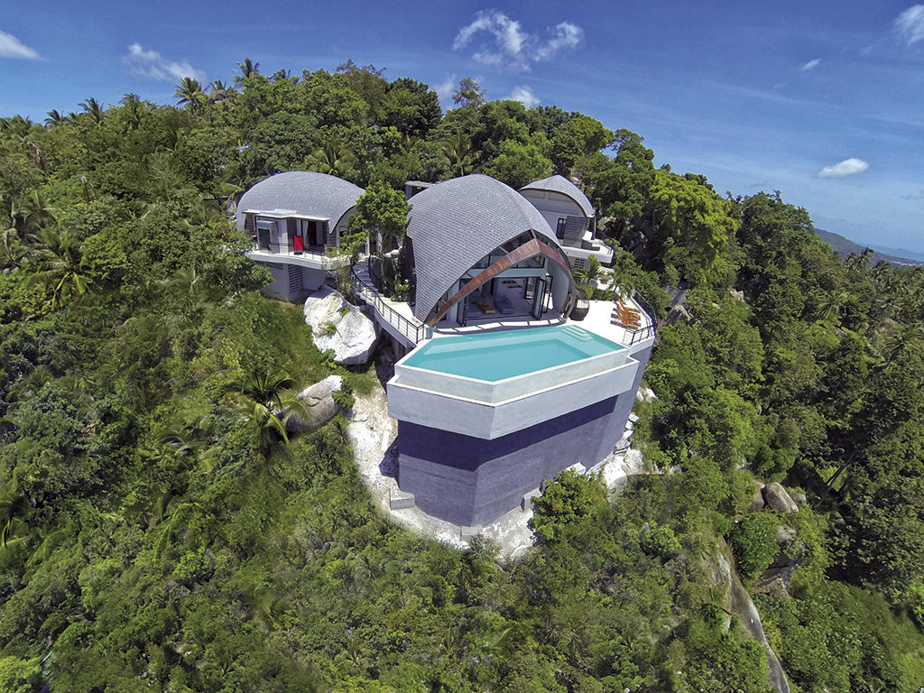 Award-winning Villa Moon Shadow in Koh Samui offers to-die-for views. (Sky Pixels Aerial Photography Koh Samui)